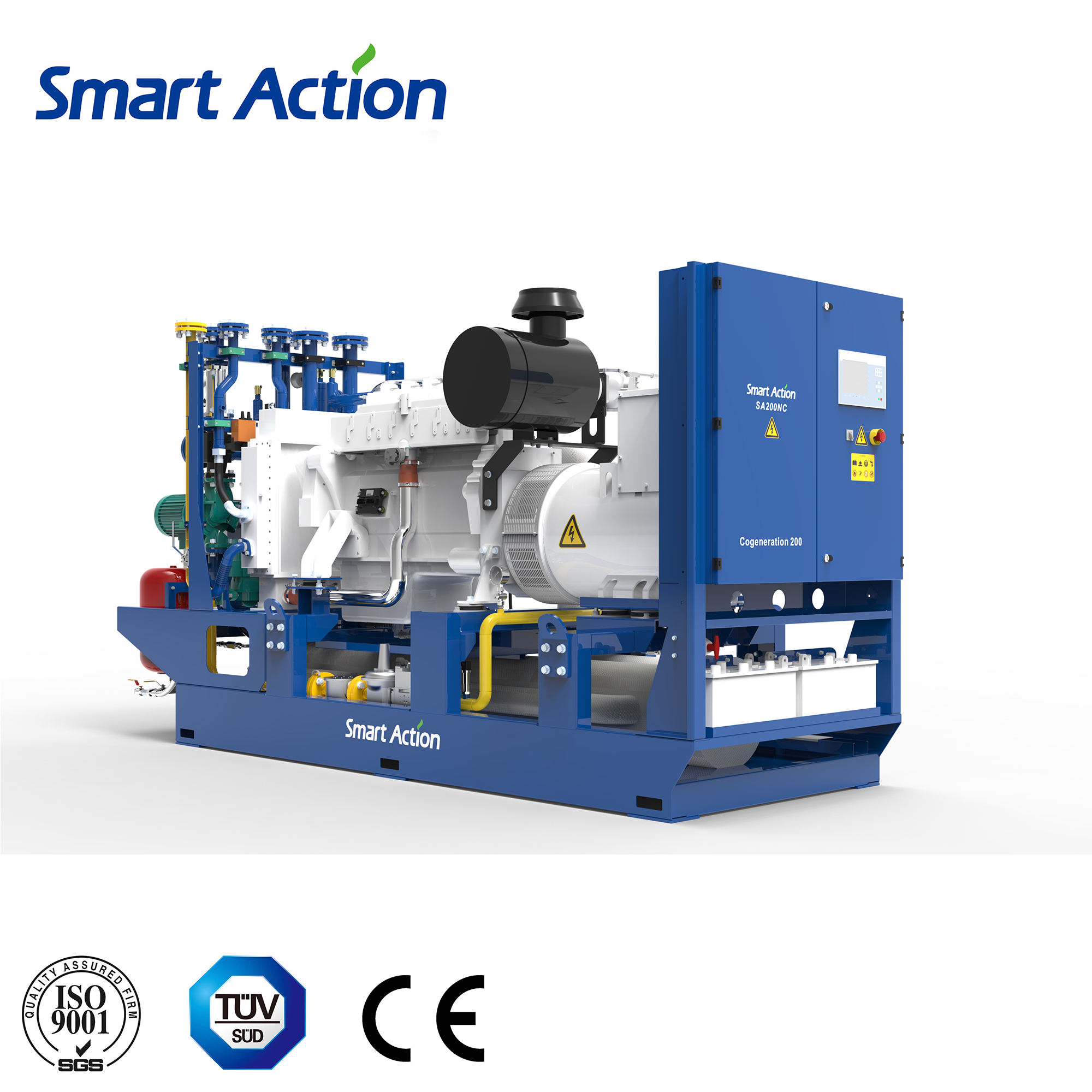 200kW CHP combined 열 및 힘 Application gemset 에 open style