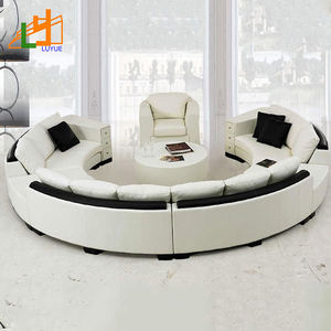 Luxury Wooden Frame Genuine Leather Sofa Furniture Newest Designs Drawing Room Sofa Set