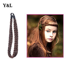 Synthetic Hair Plait Elastic Headband Double Braided Band accessories Hair Ring Rope