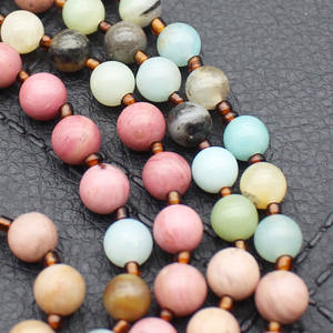 High Quality Mixed Stone Beads Long Tassel Necklace