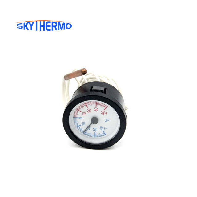 Dial Thermometer Capillary Temperature Gauge with 1.5m Sensor 0-120Degrees for Measuring Water Liquid