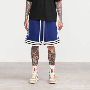 Wholesale sweat streetwear men in stock polyester and cotton high waist basketball sports mens board shorts