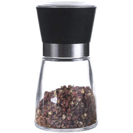 Wholesale Glass mills 150ml salt, pepper and spice grinder