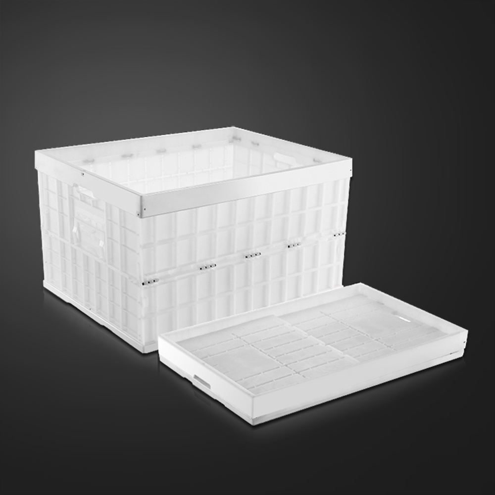 Industrial moving heavy duty collapsible folding plastic storage crate