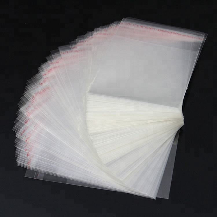 Customized Self Adhesive Backed OPP Plastic Packing Bags Package
