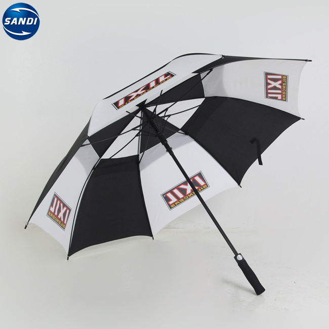 Promotional advertisement customize custom LOGO printed auto rain golf long umbrella