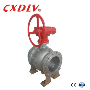 Wheel Handle Flange Trunnion Ball Valve Price List
