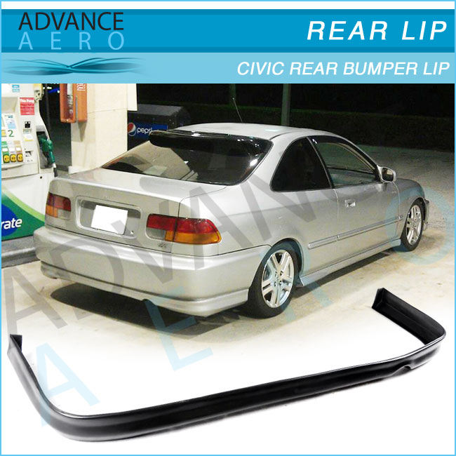 TR Urethane Rear Bumper Lip Spoiler Body kits Fit 1996-1998 Honda Civic 2//4D