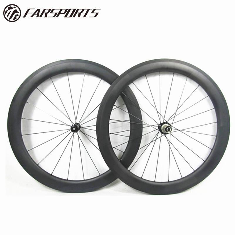 38mm front Wheel Tubular Full Carbon 700C 3k Matt Road TTbike Racing hub spokes
