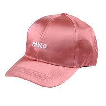 Wholesale custom logo hat baseball satin cap for women