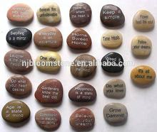 New Style Colorful Engraved River Stones Rocks with inspiration words