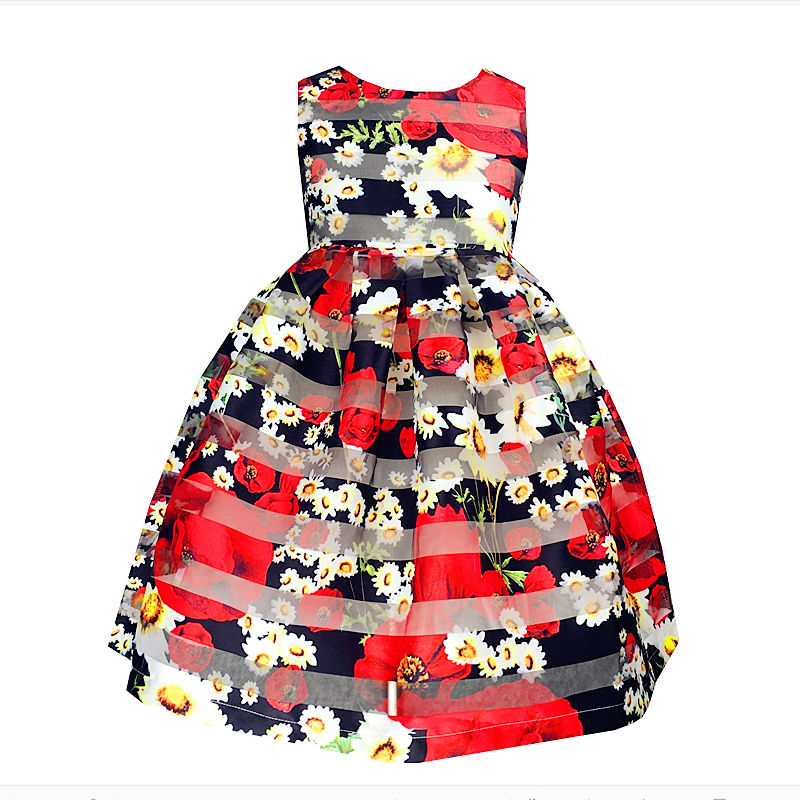 Kseniya Kids black organza flower girls dresses for 10 year olds dress for 12 years old girl