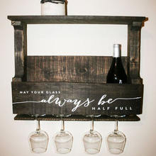 New design Personalized Rustic Wall Mounted Wine Rack for sale