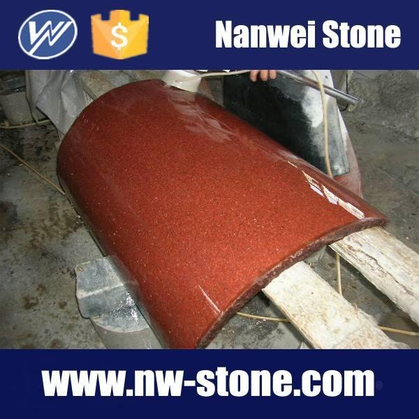 Китай красный гранит изогнутые пластины для рим колонны или настенный