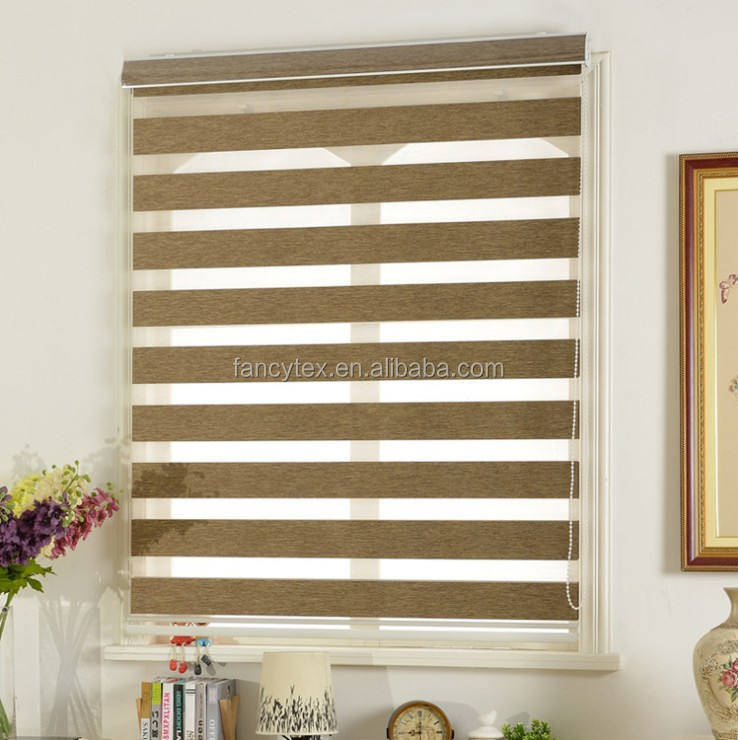 Blackout sunscreen double layer zebra blinds curtain big size blinds use double roller zebra solar blind shades fabric factory
