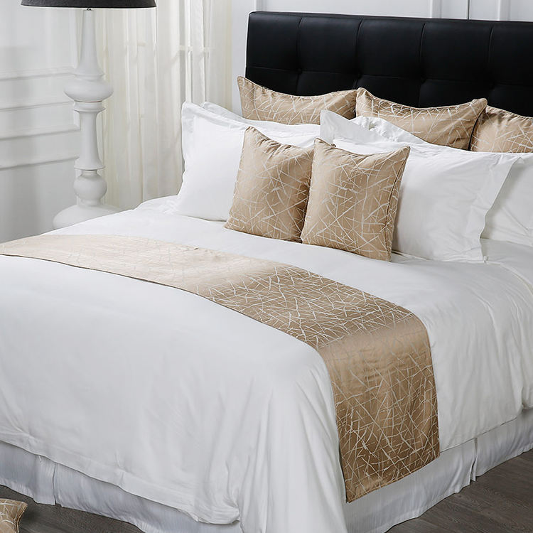 50% Discount Luxury Designs Wholesale Sateen Fitted 100% Egyptian Cotton 1000Tc Linen White Hotel Bed Sheet