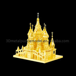 DIY Build My World Laser-cut Saint Basil's Cathedral 3D Building Puzzle
