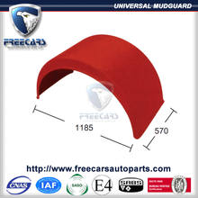 Customized ABS Plastic colour mudguard and fender for universal trucks and trailers
