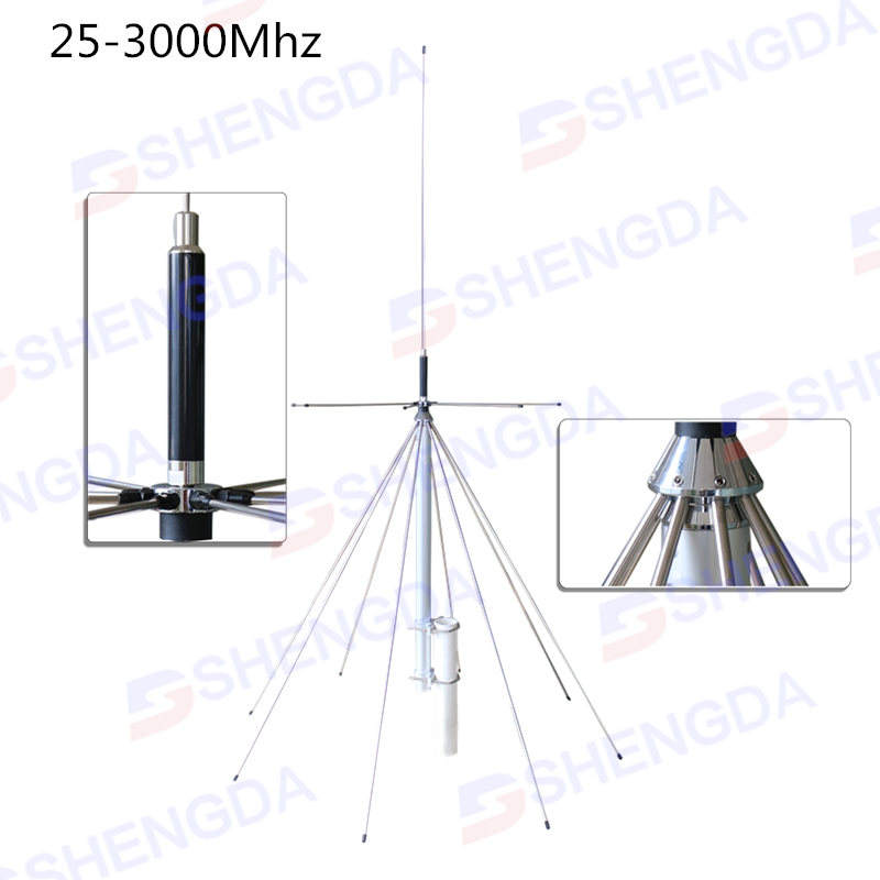 D130NJ 25-1300mhz quad bands N/M Connector Discone base station antenna/wide band scaning SDDiamond base station antenna