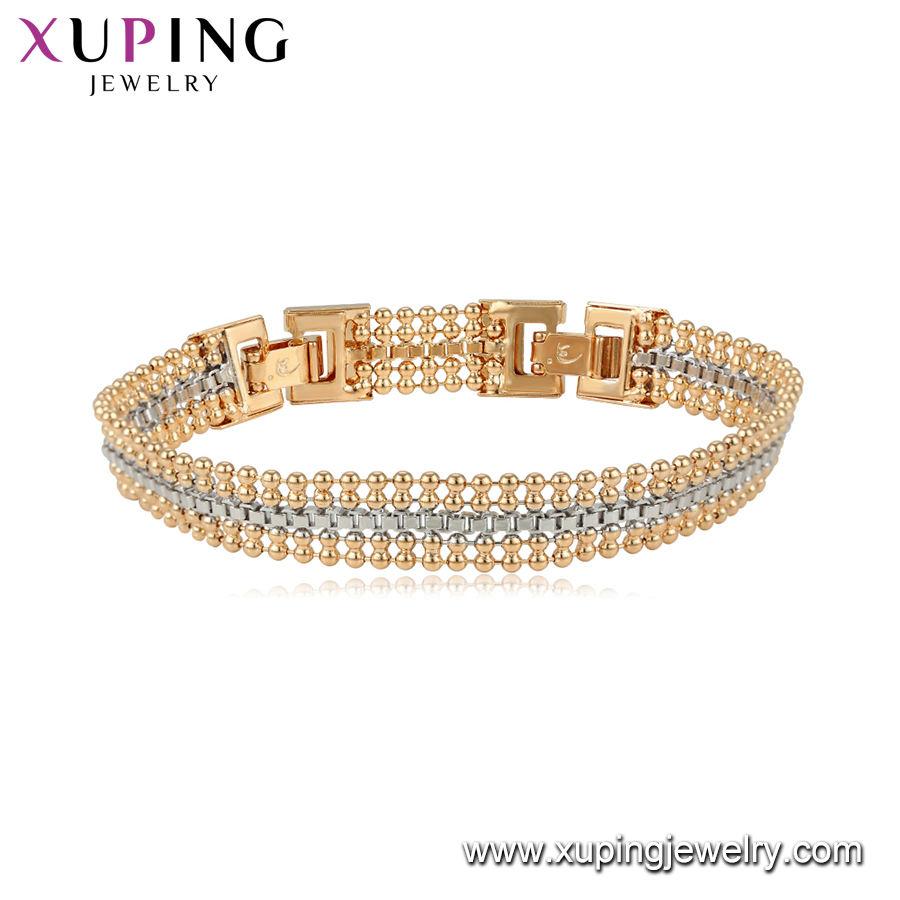 75105 Xuping древний Королевский стиль золотые бусины конструкции толстые женщины браслет ювелирных изделий
