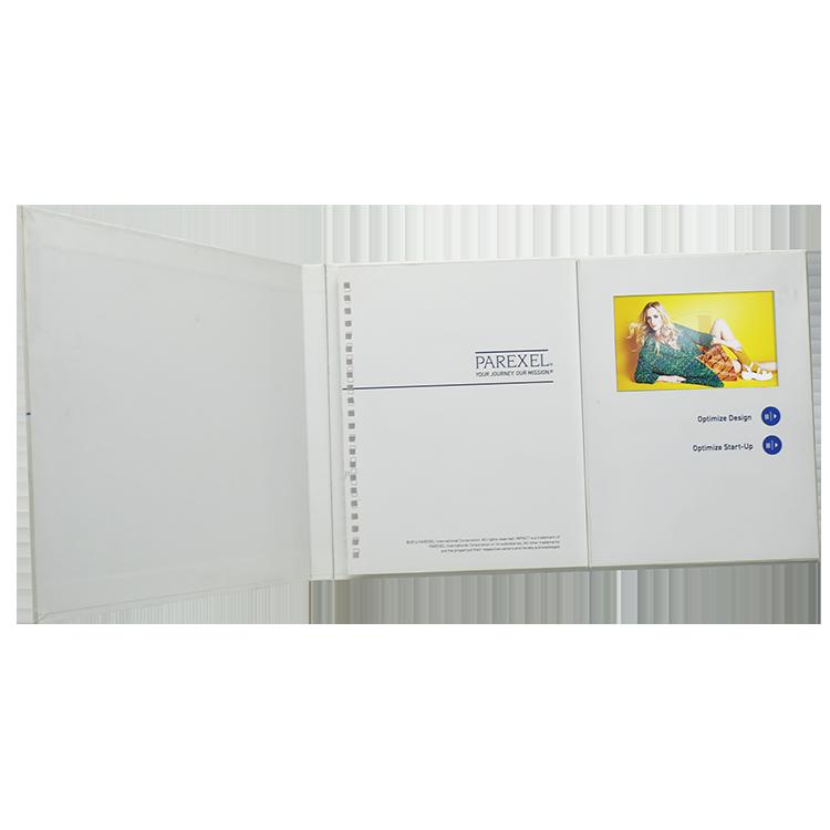 Facevideo Hard Cover A4/A5 4,3/5/7 Zoll Video Display Buch Video Gruß Karte Lcd Video broschüren