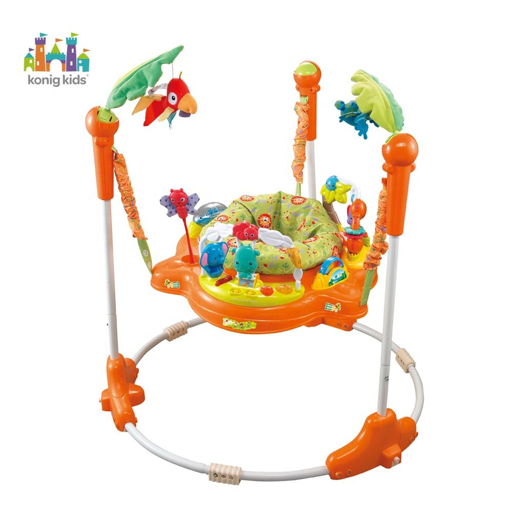 Konig Kids Amazon Jungle Baby Bouncer Toys Chair With Music Baby Jumper Activity Center Wheels Baby Toddler Walker