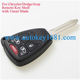 Remote Key Shell case 4+1 Button for Chrysler Dodge Jeep key cover