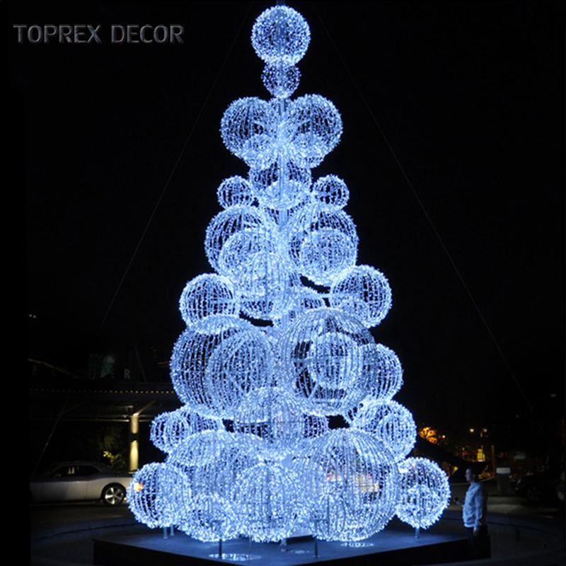 Toprex decor waterproof giant LED ball tree 3d led outdoor christmas decoration