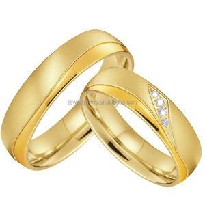 Custom Alliance bijoux joyas stainless steel jewelry,original design gold plated women couple stainless steel wedding ring