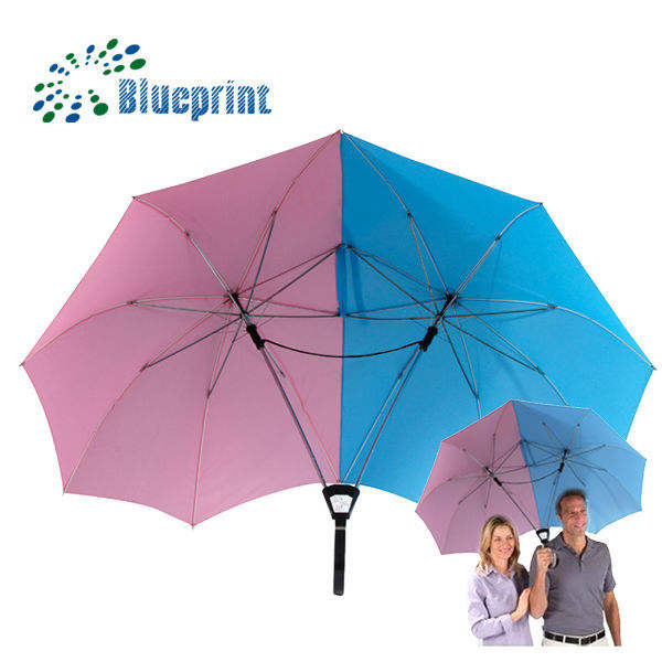 Promotional Double Shaft Twins Lover Couple Umbrella