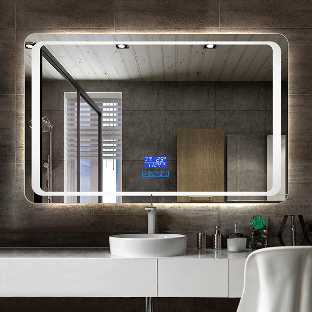 Large led bathroom mirror elastic bungee shock cord