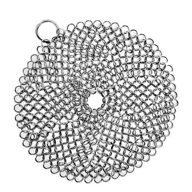 Stainless Steel Chainmail Scrubber / Cast Iron Cleaner / Ring screen mesh