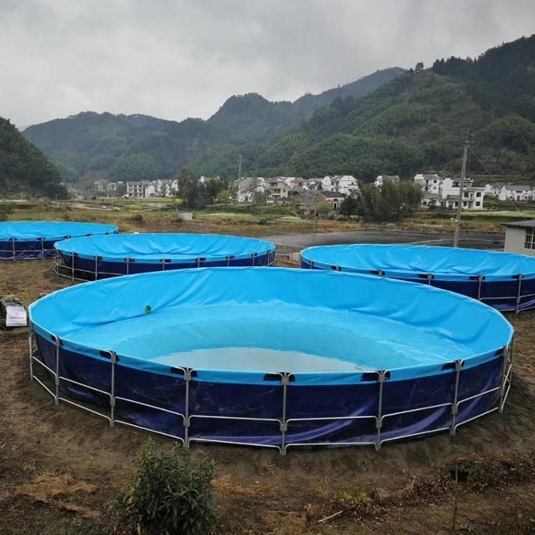 fish farm hdpe pvc geomembrane circular tanks / fish farm pond liner for aquaculture