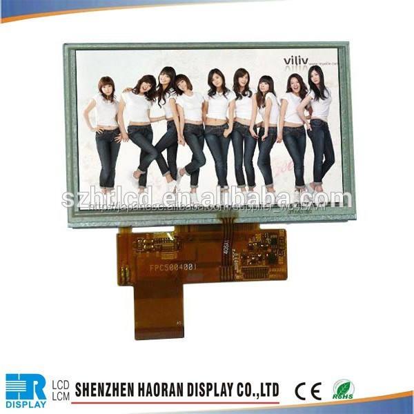 販売代理店lcd5- インチtft-lcd800x480高精細デジタルパネルカラー画面