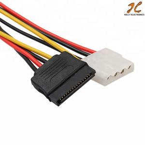 15PIN SATA Male to 4Pin (ssd) IDE Molex 암 + SATA 암 Power Cable cord wire 선 대 한 Motherboard 및 Hard 디스크 18 센치메터