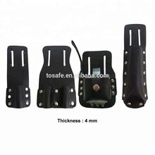 Durable Black color and Brown color 100% split leather scaffold tool belt