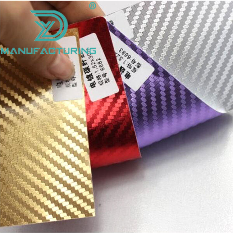 Starwrap Car Decoration Chrome Gold 3D Carbon Fiber Vinyl Sheets