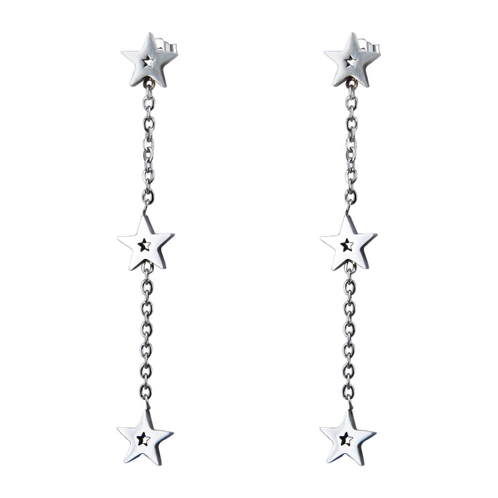 Stainless steel jewelry making supplies star chains cheap chinese earrings