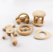 Wholesales Wooden Baby Rattle Teething Toy Children`s Intellectual Montessori Toys