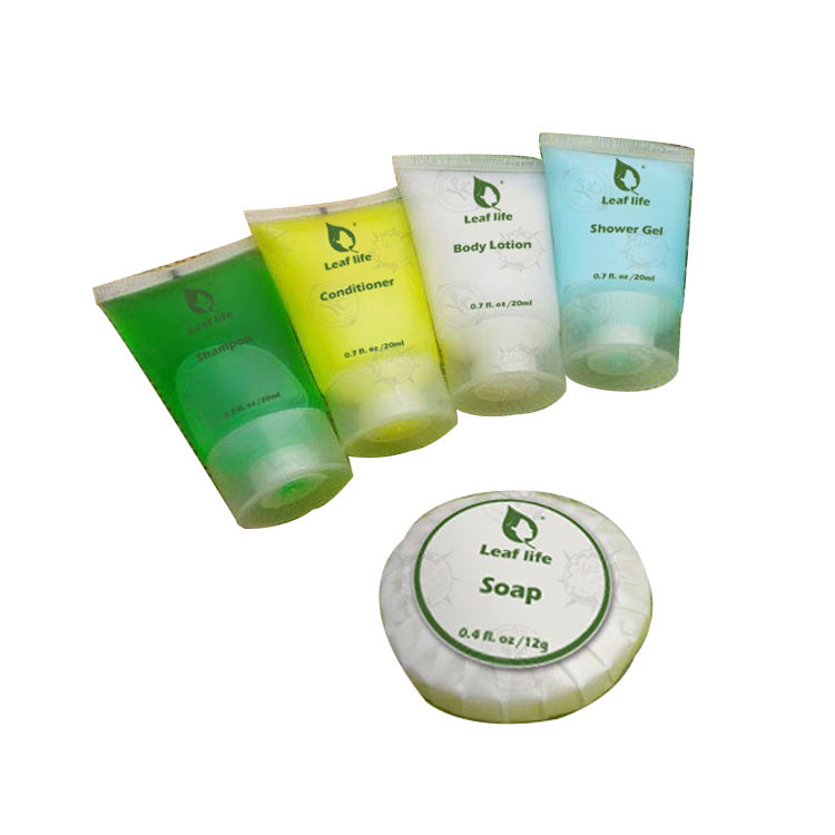 Hotel Cosmetics Sets Supply Gently Cleans Bath Amenities Set Includes Shampoo,Conditioner,Shower Gel,Body Lotion,Soap