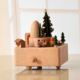Beech [ Music Box ] Wooden Music Box Tree Merry Christmas Items