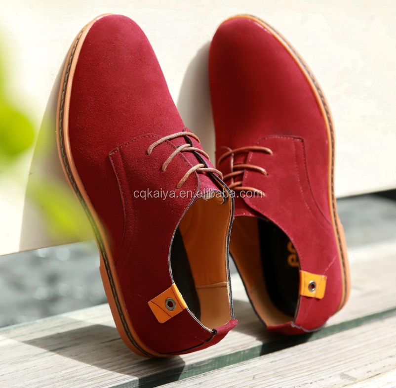 Suede leather shoes for men and students
