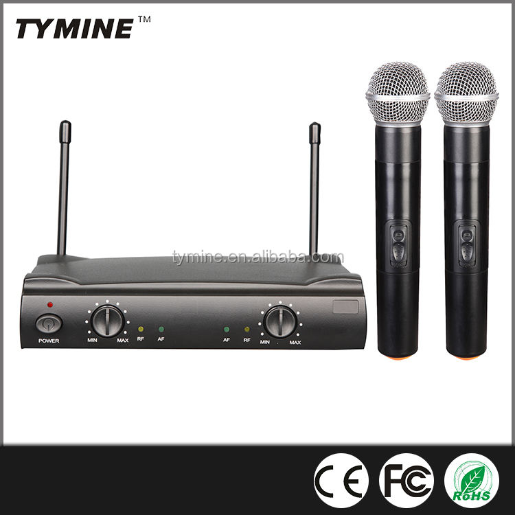 Tymine Professional Hot Sale Popular UHF Dual Channel Karaoke Wireless Microphone TM-UT4