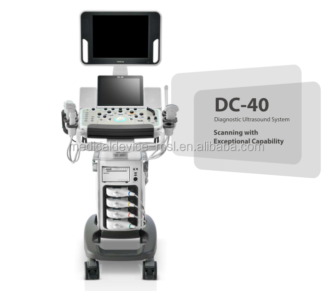 2018 China sole agent DC-40 ultrasound mindray color droppler scanner