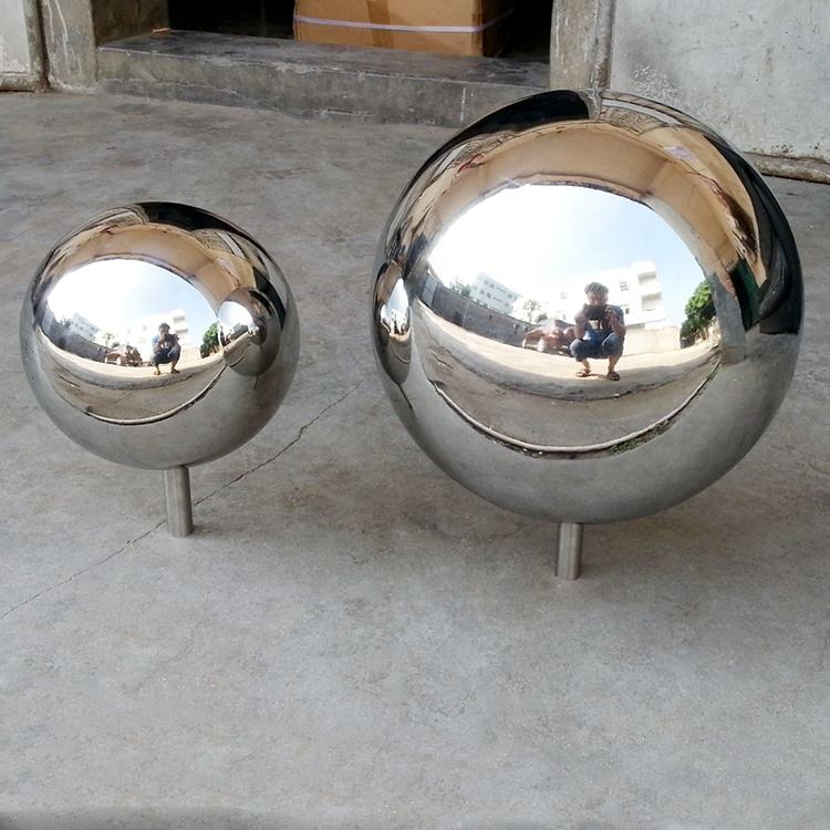 12cm 20cm 25cm vfx ball Stainless steel ball with rod stainless steel mirror ball