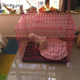 Pet New 2019 Animal Pet Cage Dog Cat Cage Pink Blue Black 3 Colors Size M 76*46*53