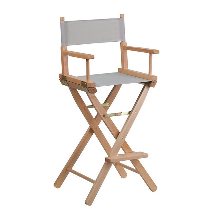 Folding Wooden Director Chair with Arm