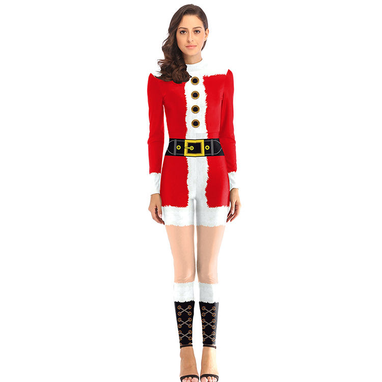 Wholesale New Design Long Sleeve Botton Winter Adult Cosplay Christmas Costume