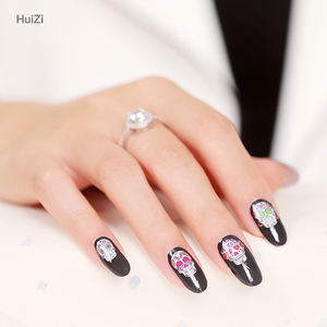 Wholesale Newest Product Nail Art DIY 3D Skull Shape Halloween Christmas Cartoon Nail Sticker