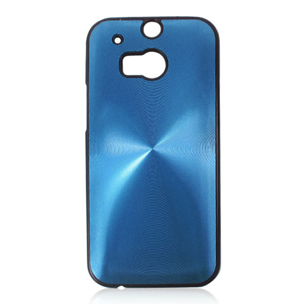 Suitable for VAT HTC M8 transparent phone case PC material CD pattern aluminum case